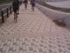 由比ヶ浜のサイクリングロードを走る!